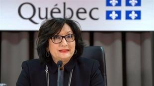 La juge France Charbonneau, présidente de la commission qui porte son nom, lors du dépôt de son rapport, le 24 novembre 2015.