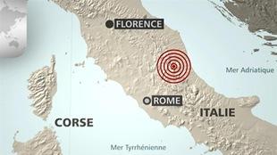 Une carte de l'Italie