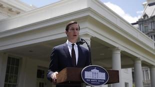 Jared Kushner s'est adressé aux médias, devant la Maison-Blanche, après avoir été entendu par une commission du Sénat américain.