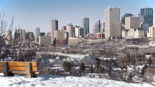 La ville d'Edmonton en Alberta
