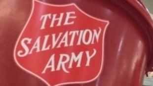 Une marmite de Noël de l'Armée du Salut