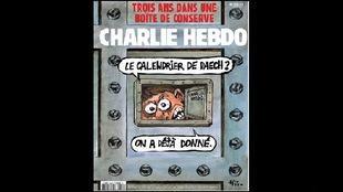 La une de janvier 2018 de <em>Charlie Hebdo</em>