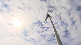 Une éolienne vue du sol. (Archives)