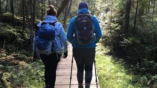 Des randonneuses dans le parc national de la Gaspésie