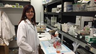 Rana Mustafa dans un laboratoire de recherche à l'Université de la Saskatchewan