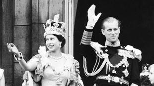 La Reine Elizabeth II et le prince Philippe le jour du couronnement (le 2 juin 1953)