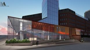 Maquette du centre culturel « The Link Arts Centre » prévu à Halifax.