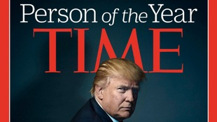 Couverture du magazine Time avec Donald Trump