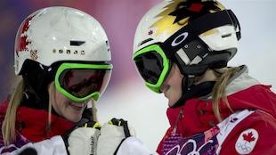 Les soeurs Justine et Chloé Dufour-Lapointe aux Jeux de Sotchi