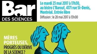 L'affiche du prochain Bar des sciences