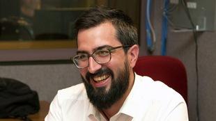 Benjamin Ducol, responsable de la recherche au Centre de prévention de la radicalisation menant à la violence (CPRMV), photographié dans le studio 30 de Radio-Canada