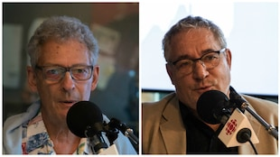 photo de Bernard Pelchat et Marcel Dallaire en studio
