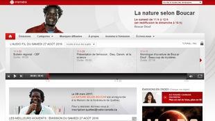 Capture d'écran de l'ancien site de <i>La nature selon Boucar</i>
