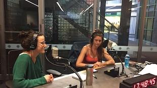 Kelly Lefaive et Joëlle Westman membres de la formation Georgian Bay nous rendent visite en studio