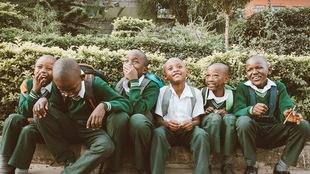 Un groupe d'écoliers à Nairobi