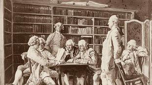 Lecture chez Diderot par Jean-Louis Ernest Meissonier