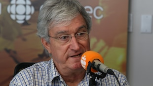 François Petry, professeur émérite de Sciences politiques à l'université Laval et co-créateur du Polimètre