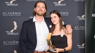 Matt Joycey et Brigitte Noël aux prix Gémeaux avec leur statuette