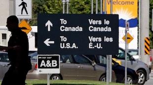 Un poste frontalier canadien