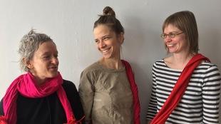 Pascaline Knight, Mariana Lafrance et Julie Lassonde à la Galerie du Nouvel-Ontario