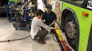 L'atelier de mécanique du centre Métrobus du RTC