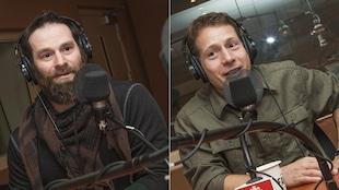 Dominic Paradis et Frédéric Dion au micro de Catherine Perrin