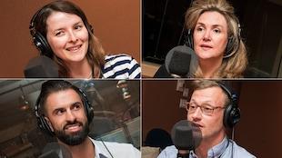 Alexia Pedandola, Sandrine Lassalle, Mathieu Lalancette et Joseph Sabatier au micro de Stéphan Bureau