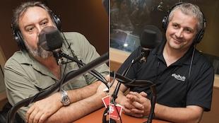 Bryan Perro et Philippe Nadeau au micro de Catherine Perrin