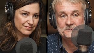 Geneviève Pettersen et André Maillard au micro de Catherine Perrin.