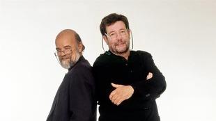 Serge Bouchard et Bernard Arcand en 2007.