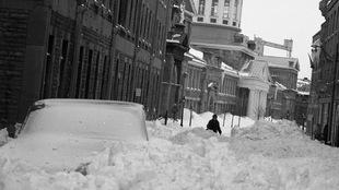 La rue Saint-Paul ensevelie, Montréal, 4 mars 1971