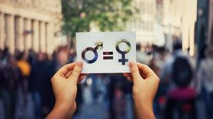 Une image des signes des genres avec le signe égal au milieu.