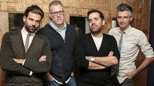 Jean-Philippe Wauthier, Fred Savard, Jean-Sébastien Girard et Olivier Niquet de <i>La soirée est (encore) jeune</i>