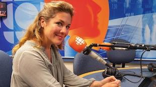 Sophie Grégoire Trudeau au micro de Radio-Canada.