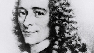 Reproduction d'un portrait non daté de l'écrivain et philosophe français Voltaire, de son vrai nom François Marie Arouet.