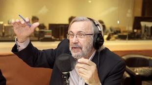 Yanick Villedieu dans le studio 18 de Radio-Canada le 20 mai 2017