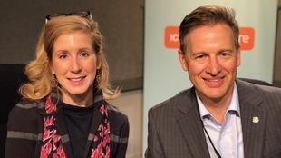 Valérie Maltais et Taras Kulish, tous deux candidats au conseil municipal de Toronto.