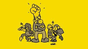 Couverture du livre Petit cours d'autodéfense intellectuelle de Normand Baillargeon. Illustration de Charb