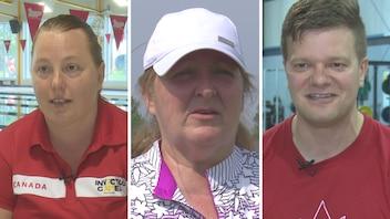 Les athlètes Julie, Martine et Simon participent aux Jeux Invictus