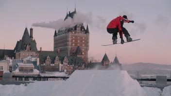 Du snowboard dans un paysage exceptionnel