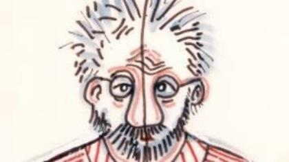 Dessin représentant l'artiste Gilles Carle