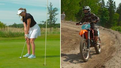Golf et motocross pour Laurie Blouin