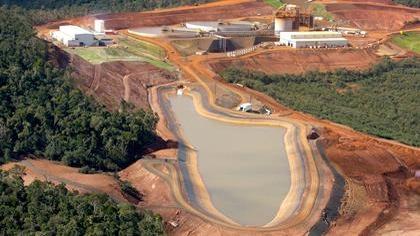 Mine de nickel de la minière Ambatovy à Madagascar.