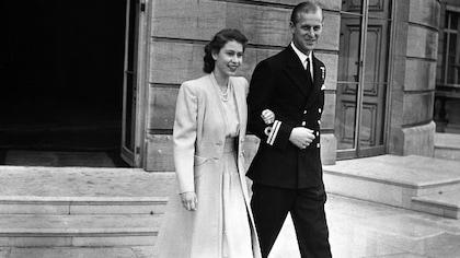 La princesse Elizabeth et le lieutenant Philip Mountbatten