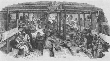 Que mangeaient les colons du 17e siècle lors de la traversée?