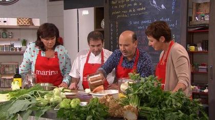 Marc Maulà et le chef Jérôme Ferrer cuisinent les légumes peu ou pas connus