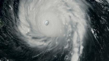Oeil d'un cyclone tropical.