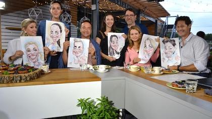 Les animateurs et leurs invités sur le plateau d'Indice UV