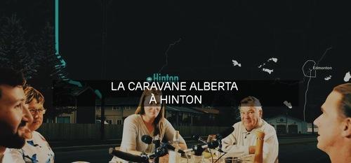 Image-titre, avec texte, de la Caravane Alberta à Hinton.