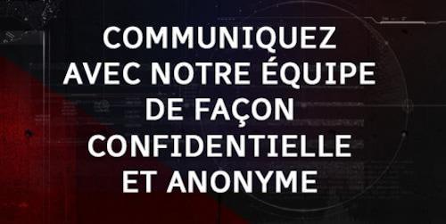 Image pour inviter à communiquer via la plateforme Source anonyme de Radio-Canada